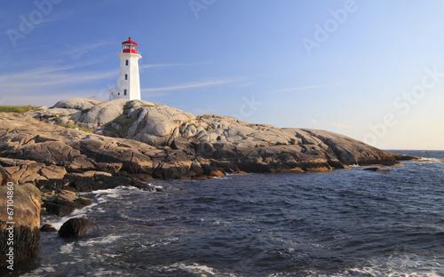 Obraz na płótnie Peggy Cove Lighthouse, Nova Scotia, Canada