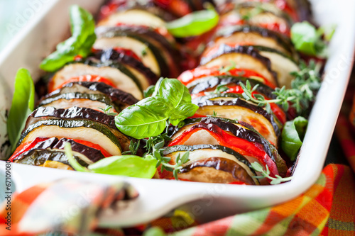 Photo Vegetable gratin