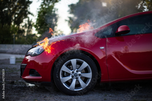 Fotografiet  Motorbrand