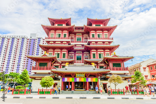 Photo  Buddha tooth temple in singapore