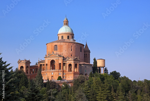 Spoed Foto op Canvas Grijze traf. view of san luca - bologna, italy