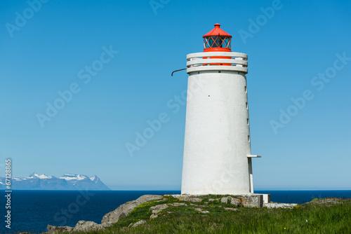 Staande foto Scandinavië Leuchtturm auf Island