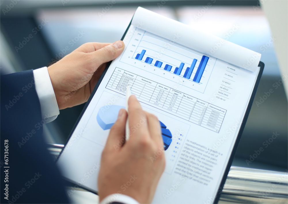 Fototapeta Stock market graphs monitoring