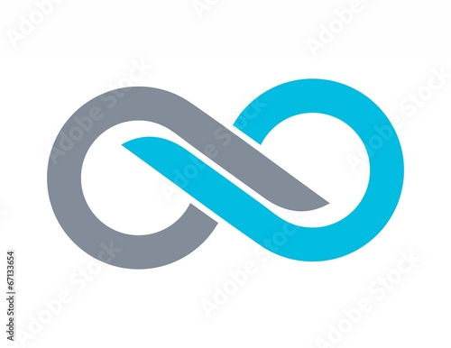Stampa su Tela  business logo,company,corporate abstract Infinity letter S