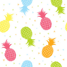 Pineapples Colorful Seamless Texture Pattern