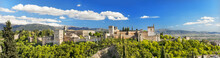 Panorama Of The Famous Alhambr...