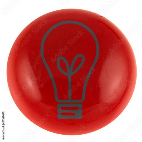 Poster  ampoule électrique sur bouton, concept idées