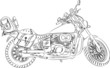 vector outline a motorcycle