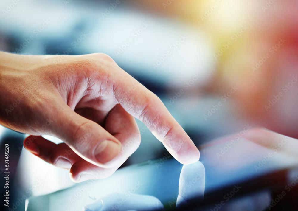 Fototapeta tablet in hand