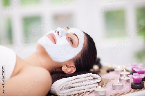 Fotografie, Obraz  Krásná žena s kosmetické procedury v lázeňském salonu