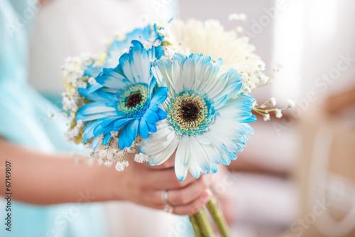 Bouquet Sposa Gerbere.Bouquet Sposa Di Gerbere Bianche Azzurre E Mughetti Buy This