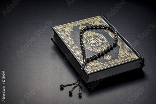 Quran Holy Book and Beads