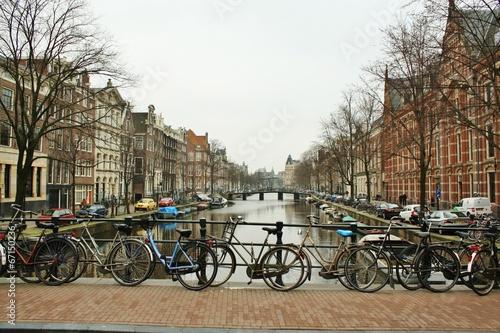 アムステルダム 運河と自転車 #67150236