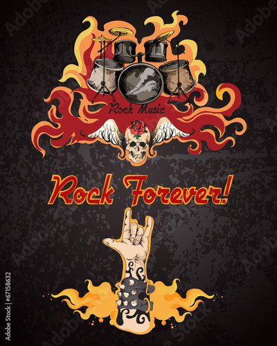 Rock music poster