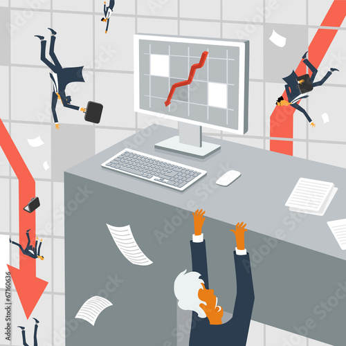 Fotografía  The international economic crisis