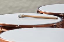 Drumsticks Lying On Timpani