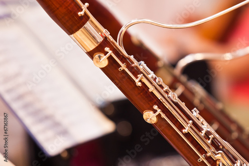 Photo Fragment bassoons in a symphony orchestra