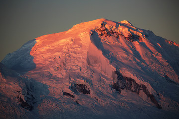 Huascaran Peak (6768m) in Cordiliera Blanca, Peru