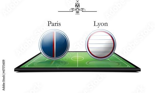 Photo  Paris vs Lyon