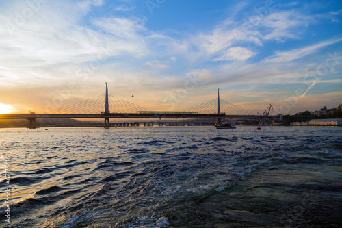 Photo  Istanbul sea front view, Bosporus, Turkey.
