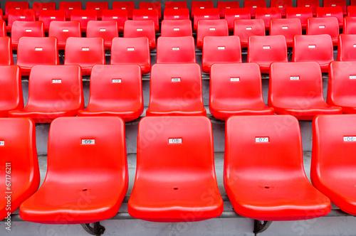 Fotobehang Stadion Red seats at the stadium