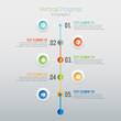 Vertical Progress Infographic
