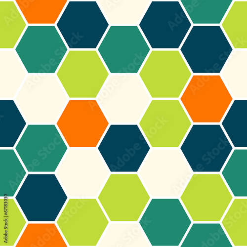 Wall mural - Hexagon seamless pattern