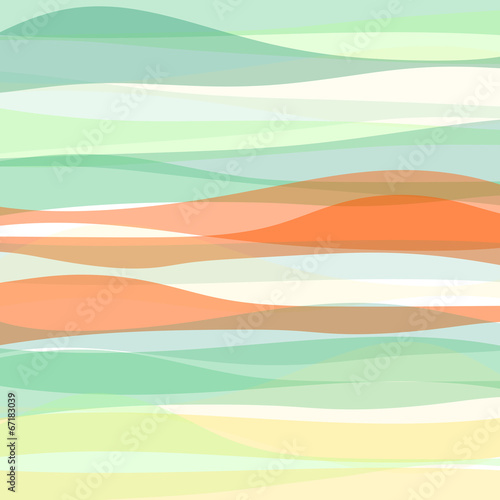 Fotobehang - Seamless colorful striped wave background