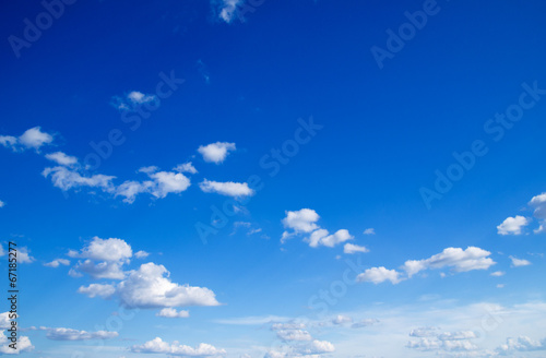 Fotobehang Hemel blue sky background with tiny clouds