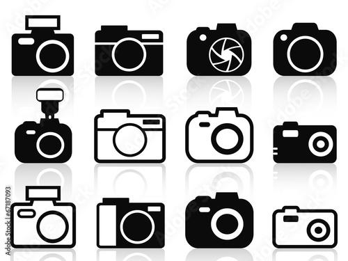 Photo camera icons set