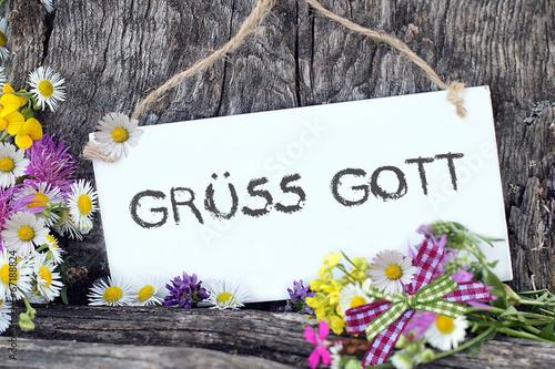 Obraz na płótnie Grüss Gott