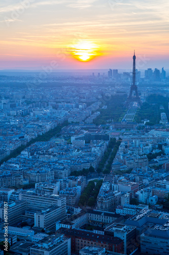 Papiers peints Paris Eiffel Tower sunset
