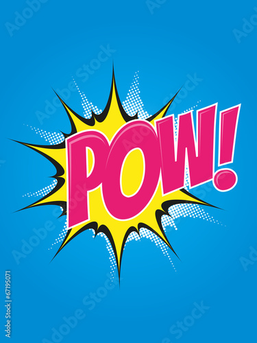 In de dag Pop Art pow pop-art explosion retro poster