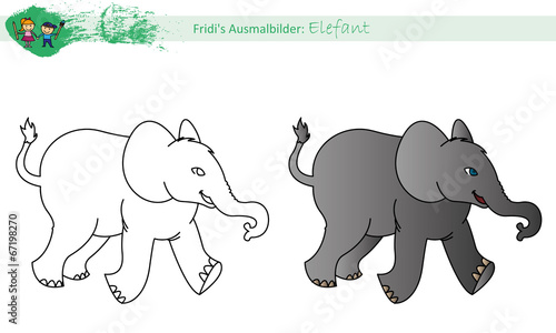 Ausmalbild Elefant Buy This Stock Vector And Explore