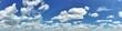 canvas print picture - blauer Himmel und weiße Wolken