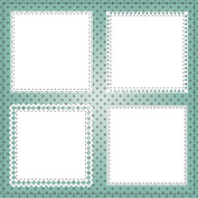 Vintage Square Lace Frame Layout For Photos