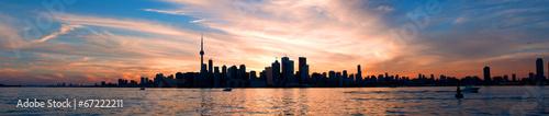 Deurstickers Toronto Toronto skyline panorama at sunset