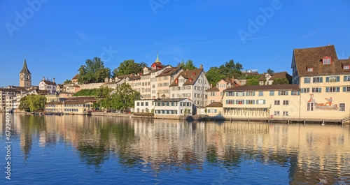 Staande foto Singapore Zurich, view on the Limmat River