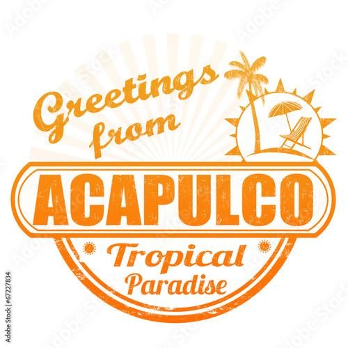 Fotografija  Greetings from Acapulco stamp