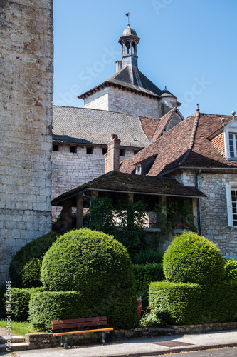 Foto op Plexiglas Artistiek mon. Abbaye de Carennac