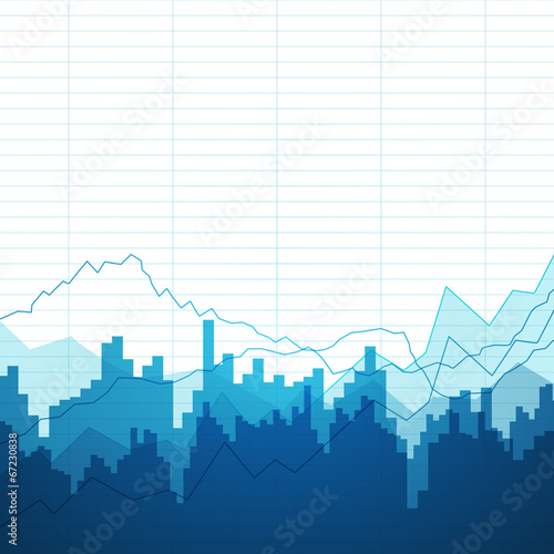 Cuadros en Lienzo Vector Illustration of an Abstract Background with Graphs