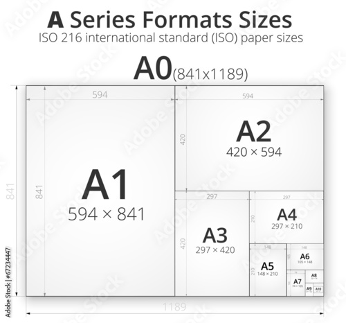 Photo Illustration with paper size of format A