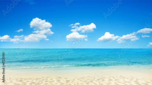 Deurstickers Strand tropical sea