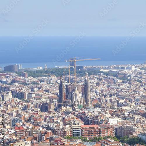 Foto op Plexiglas Barcelona barcelona cityscape