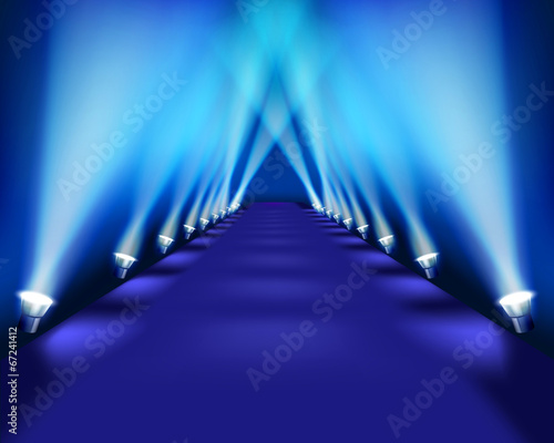 Stampa su Tela Stage during the performance. Vector illustration.