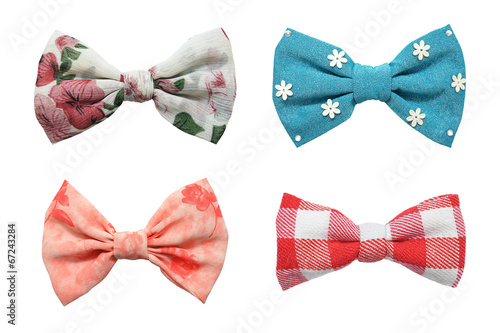 Fototapeta Four bows tie collection isolated on white background