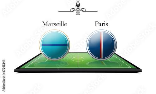 Marseille vs Paris Canvas Print