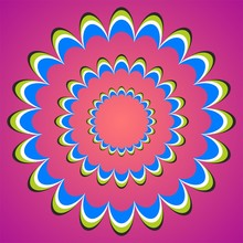 Optical Illusion Sunset Flower...