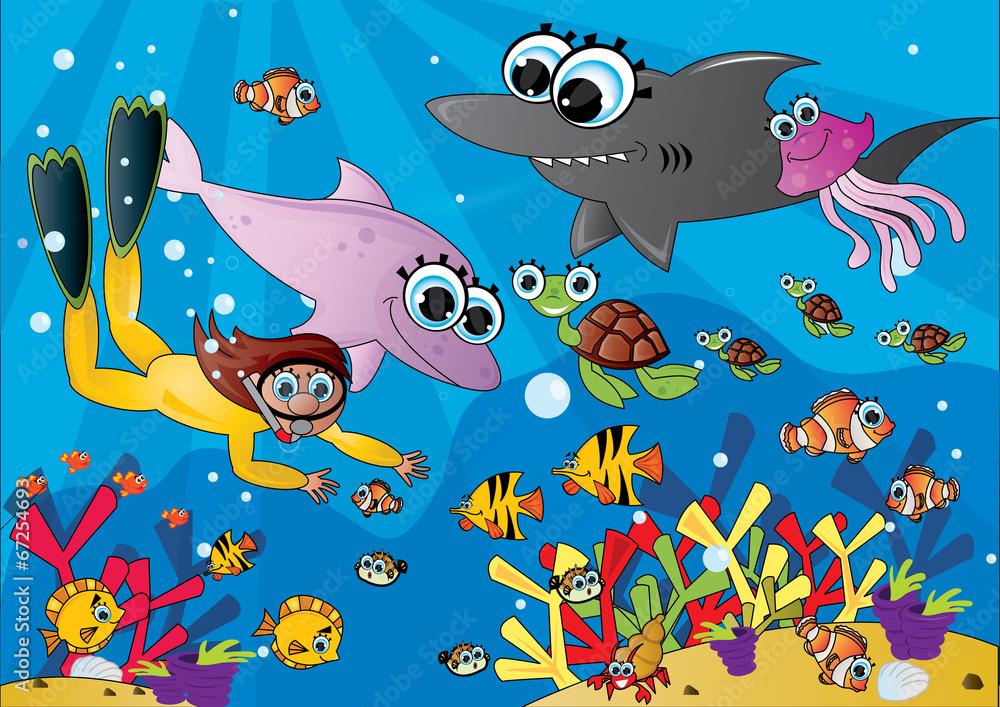 Fototapeta podwodny świat ocean
