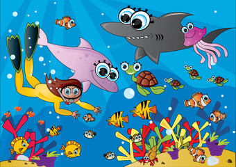 podwodny świat ocean